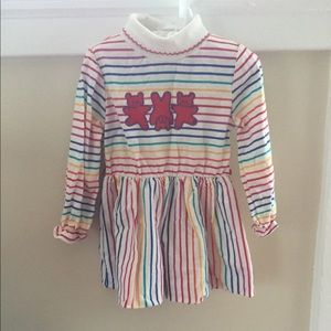 Rainbow Stripe Sweater Dress 4T